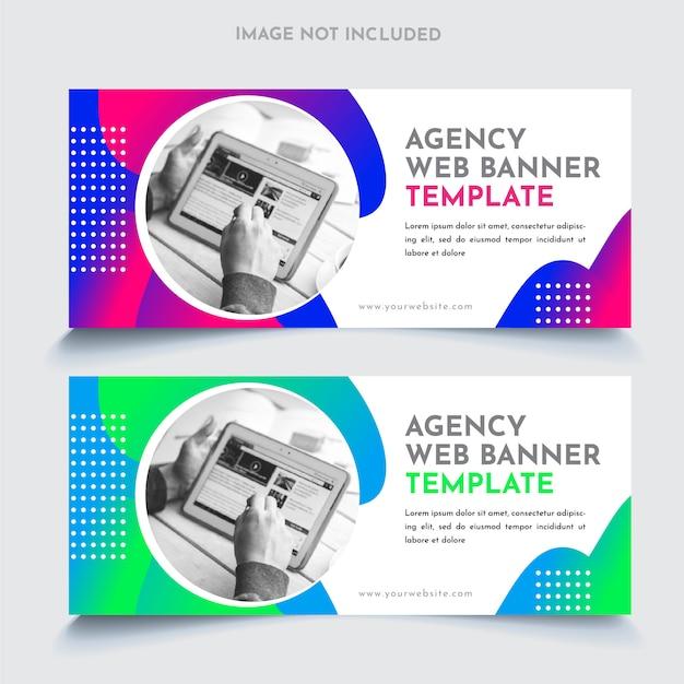 Modelo de banners web empresariais Vetor Premium