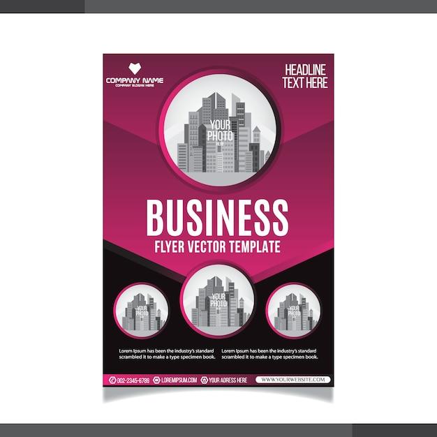 Modelo de base empresarial abstrata de negócios Vetor Premium