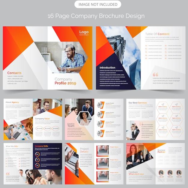 Modelo de brochura - corporativo Vetor Premium