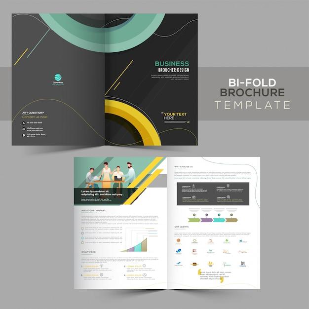 Modelo de brochura - dupla dobra Vetor Premium