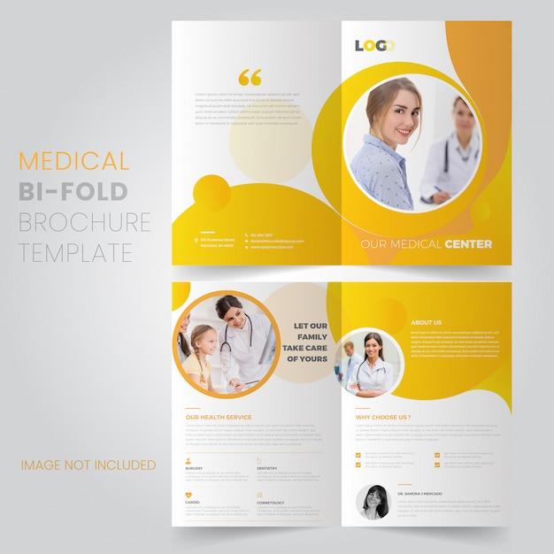 Modelo de brochura - médico Vetor Premium