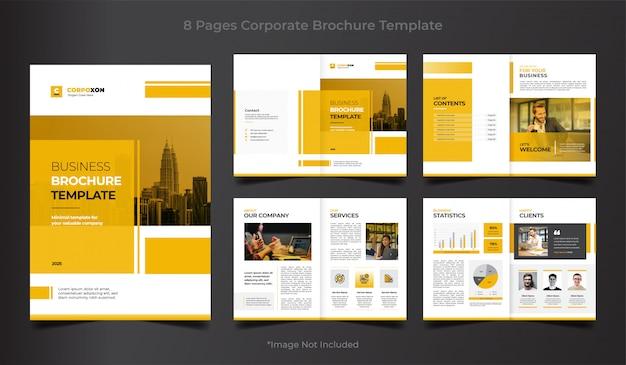 Modelo de brochura - negócios corporativos Vetor Premium