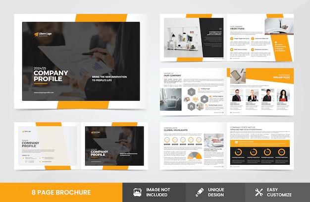 Modelo de brochura - perfil da empresa Vetor Premium