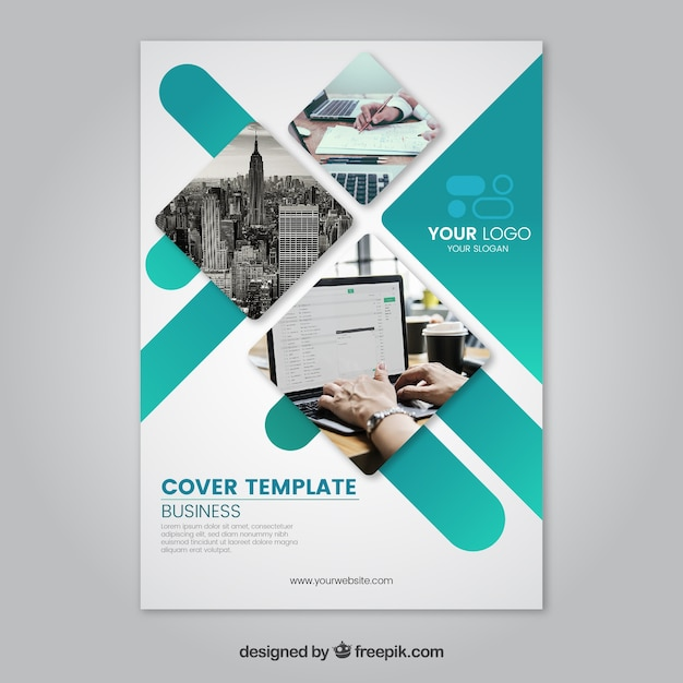 Modelo de brochuras corporativas Vetor grátis