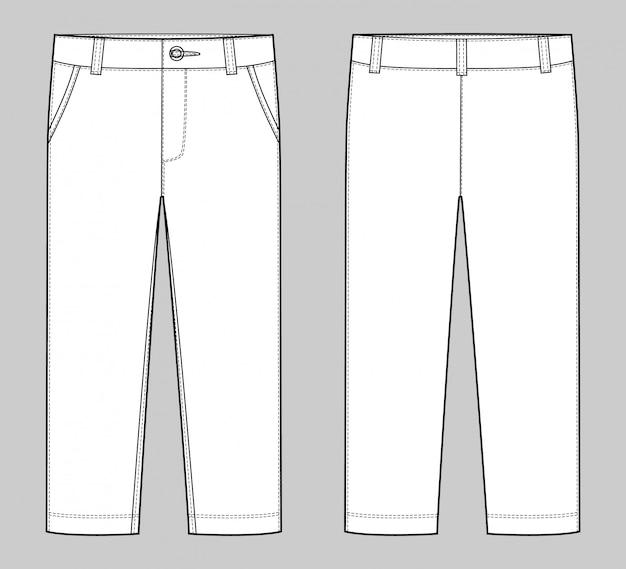 Modelo de calças Vetor Premium