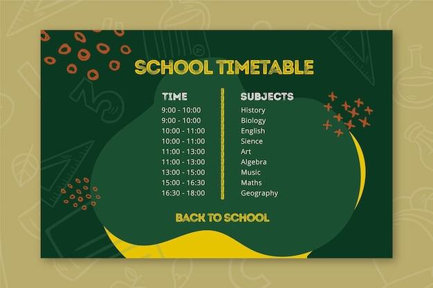 Modelo de calendário de volta à escola Vetor grátis