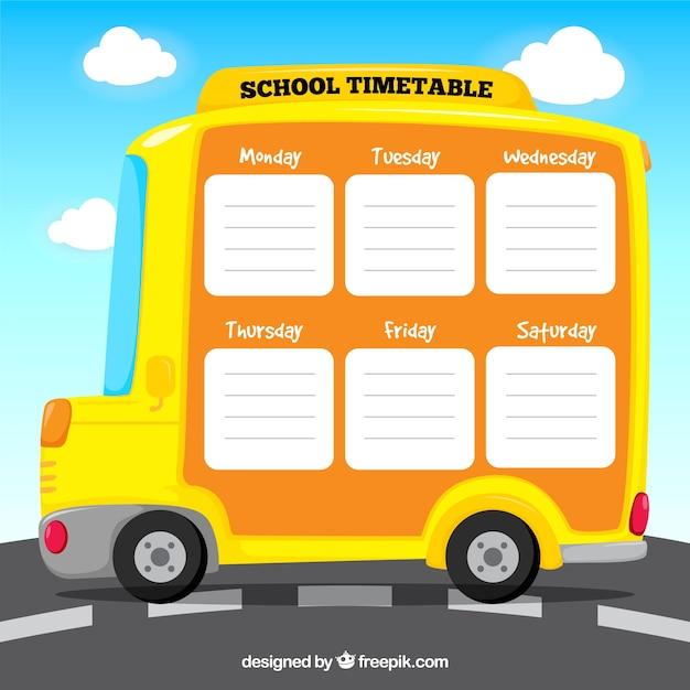Modelo de calendário escolar com o plano se dignou Vetor grátis