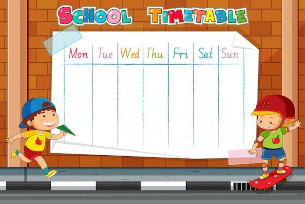 Modelo de calendário escolar Vetor grátis