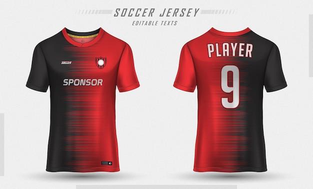 Modelo de camisa de futebol com design de camiseta esportiva Vetor Premium