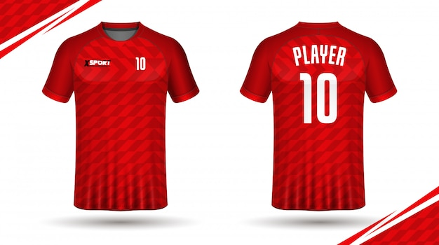 Modelo de camisa de futebol esporte camiseta Vetor Premium