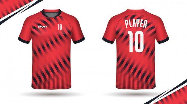 Modelo de camisa de futebol esporte design de camiseta Vetor Premium