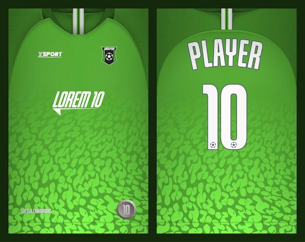 Modelo de camisa de futebol-esporte design de t-shirt Vetor Premium