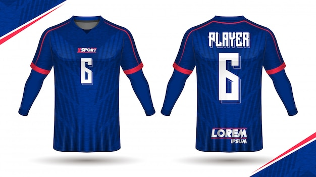 Modelo de camisa de futebol Vetor Premium