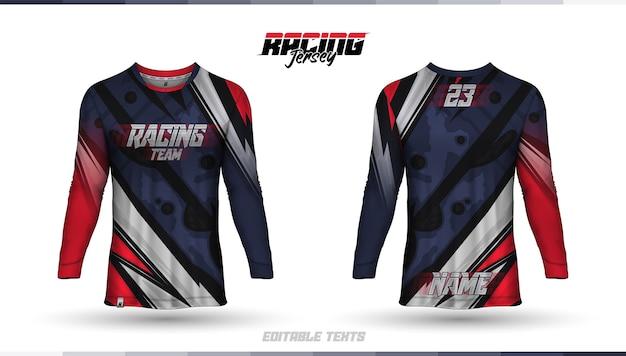 Modelo de camisa, design de camisa de corrida, camisa de futebol Vetor grátis