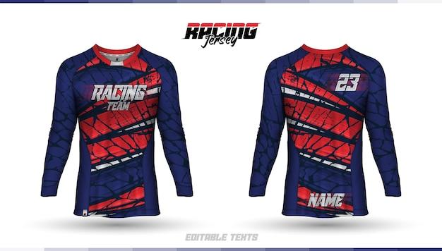 Modelo de camisa, design de camisa de corrida, camisa de futebol Vetor Premium