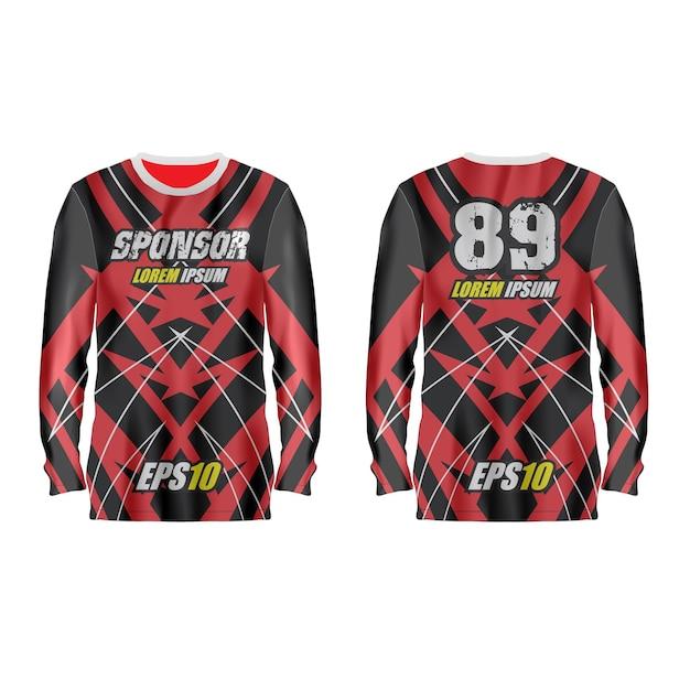 Modelo de camisa esporte na frente e nas costas. Vetor Premium