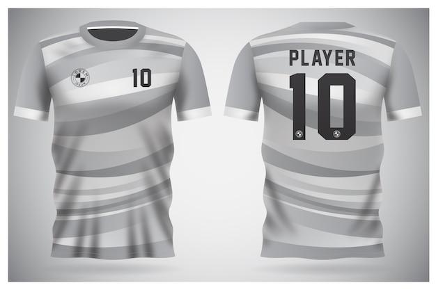 Modelo de camisa esportiva para uniformes de equipe e design de camisetas de futebol Vetor Premium
