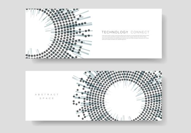 Modelo de capa com design de meio-tom. relatório anual, banner ou apresentação Vetor Premium