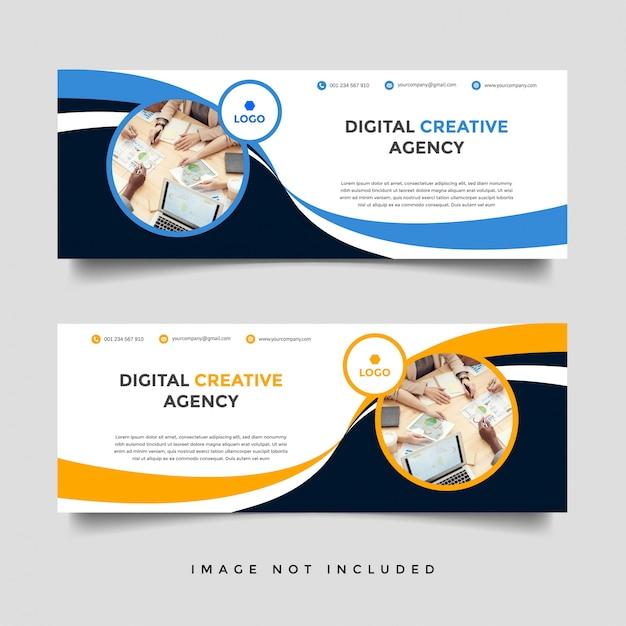 Modelo de capa de facebook de negócios criativos Vetor Premium