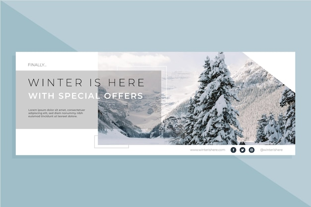 Modelo de capa de inverno do facebook Vetor grátis