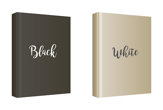 Modelo de capa de livro branco vertical Vetor grátis