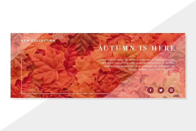 Modelo de capa de outono do facebook Vetor grátis