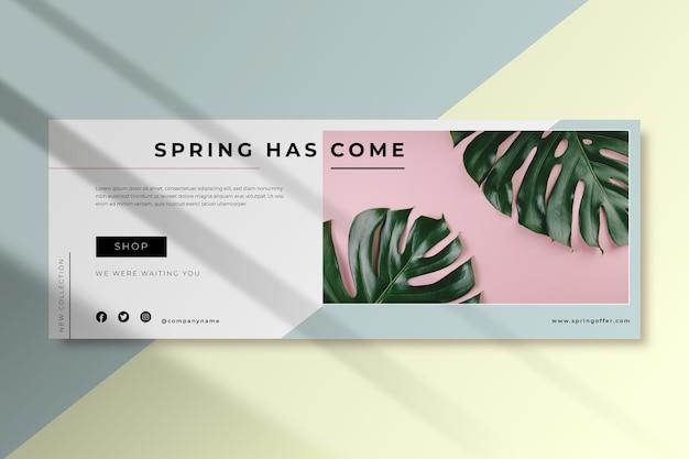 Modelo de capa de primavera do facebook Vetor grátis