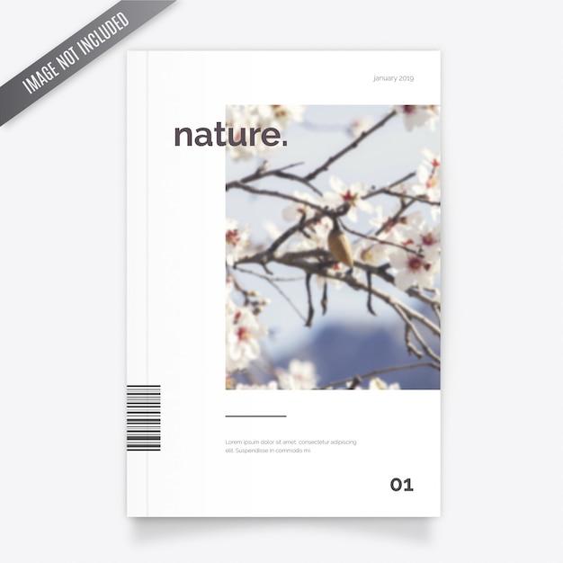 Modelo de capa de revista de natureza Vetor grátis