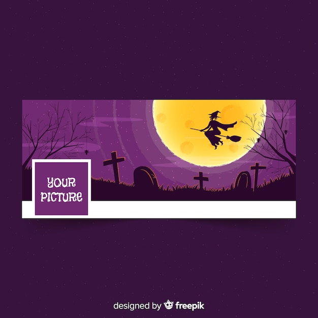 Modelo de capa do facebook de halloween Vetor grátis