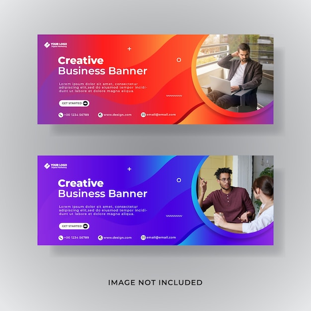 Modelo de capa do facebook de marketing digital Vetor Premium