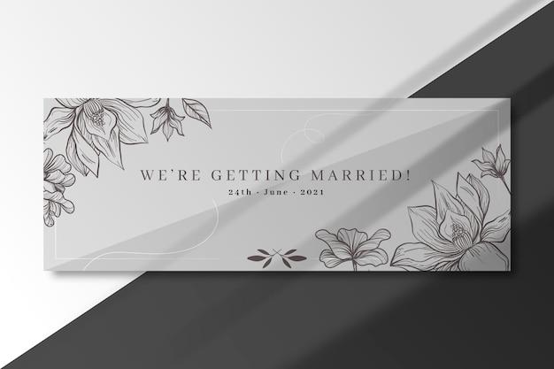 Modelo de capa para casamento no facebook Vetor grátis
