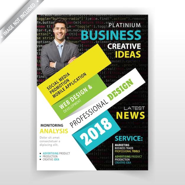 Modelo de cartão abstrato de negócios Vetor grátis