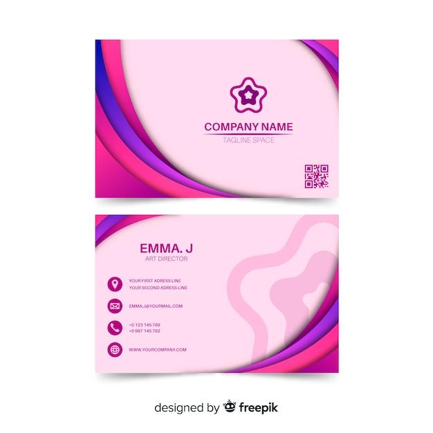 Modelo de cartão abstrato rosa Vetor grátis