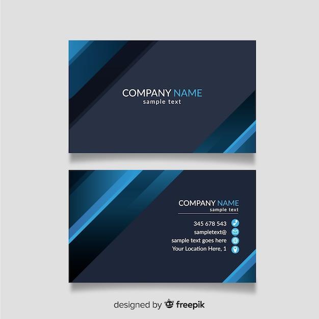 Modelo de cartão azul e cinza Vetor grátis