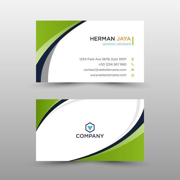 Modelo de cartão bussines Vetor Premium