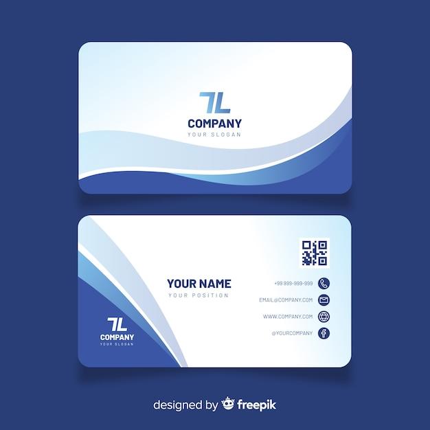 Modelo de cartão com formas abstratas Vetor Premium