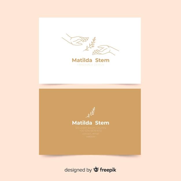 Modelo de cartão com plantas Vetor Premium