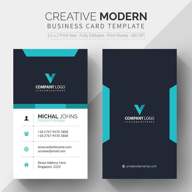 Modelo de cartão corporativo grátis Vetor Premium