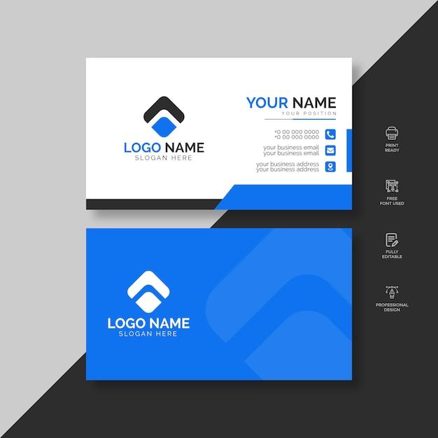 Modelo de cartão corporativo Vetor Premium