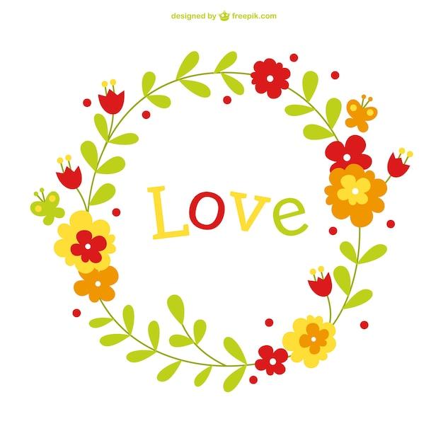 Modelo De Cart 227 O De Amor Vetor Floral Baixar Vetores Gr 225 Tis