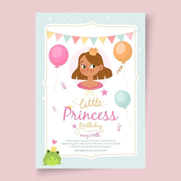 Modelo de cartão de aniversário infantil Vetor grátis