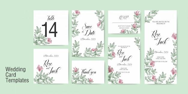 Modelo de cartão de casamento Vetor Premium