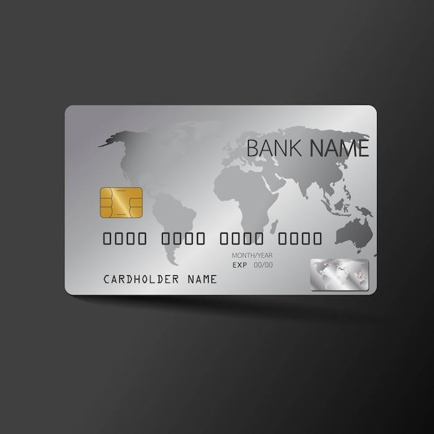 Modelo de cartão de crédito moderno. com inspiração do resumo. Vetor Premium