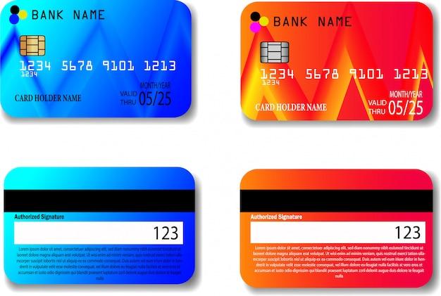 Modelo de cartão de crédito Vetor Premium