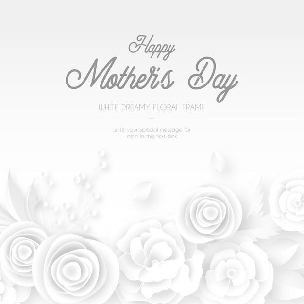 Modelo de cartão de dia das mães elegante Vetor grátis