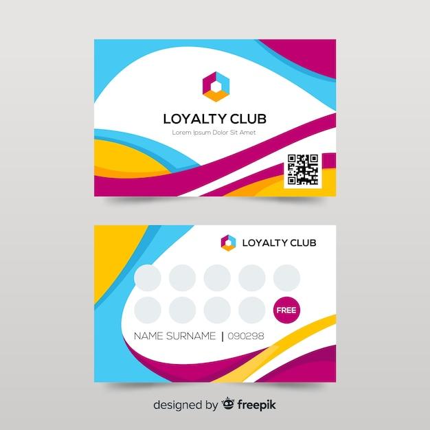 Modelo de cartão de fidelidade colorido com design abstrato Vetor grátis