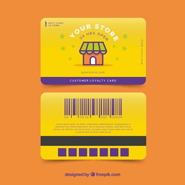 Modelo de cartão de fidelidade de loja colorido Vetor grátis