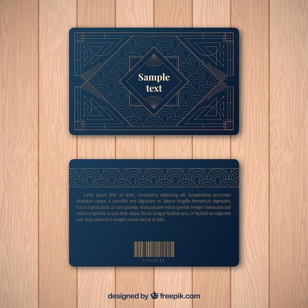 Modelo de cartão de fidelidade luxuoso com estilo dourado Vetor grátis