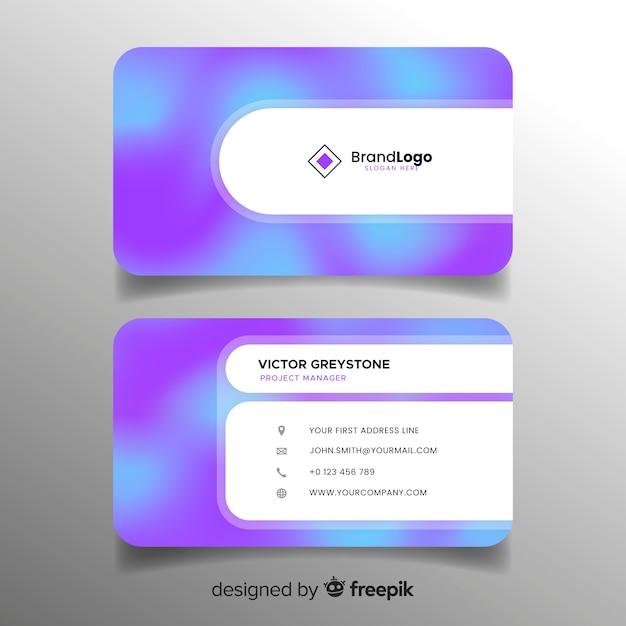 Modelo de cartão de gradiente Vetor grátis