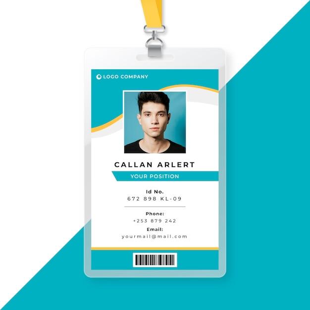 Modelo de cartão de identidade comercial Vetor grátis